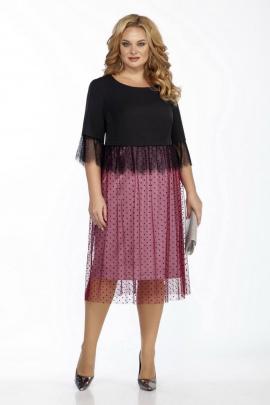 Платье LaKona 1403 черный_с_розовым