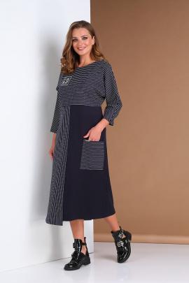Платье Andrea Style 0397 синий