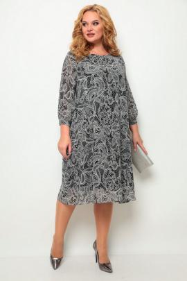Платье Michel chic 2049 черный+белый+принт