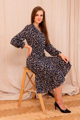 Платье Асолия 2542 тёмно-синий