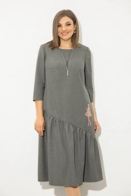 Платье JeRusi 2127 серый