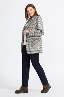 Женский костюм Милора-стиль 929 серо-коричневый