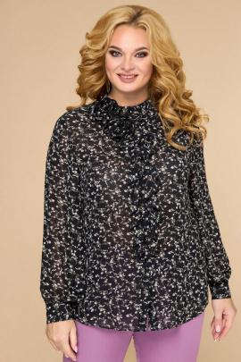 Блуза Svetlana-Style 1594 черный+цветы