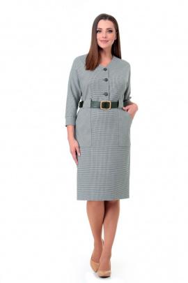 Платье Мишель стиль 979 серо-зеленый