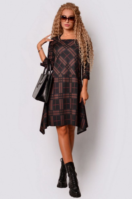 Платье PATRICIA by La Cafe С15147 черный,коричневый