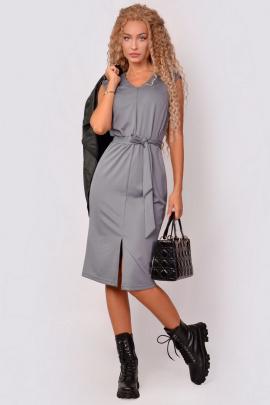Платье PATRICIA by La Cafe F15112 серый