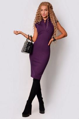 Платье PATRICIA by La Cafe F15107 баклажановый
