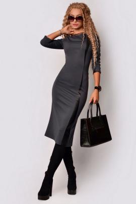 Платье PATRICIA by La Cafe F15059 графитовый,черный