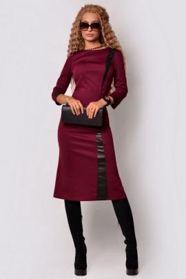 Платье PATRICIA by La Cafe F15059 винный,черный