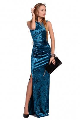 Платье PATRICIA by La Cafe NY14404 изумрудный,морская волна