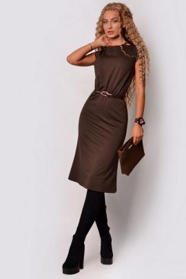 Платье PATRICIA by La Cafe F15116 коричневый
