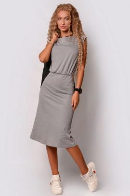 Платье PATRICIA by La Cafe F15116 серый_меланж