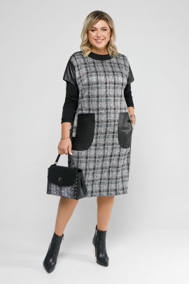 Платье, Джемпер Pretty 2058 черный-изумруд