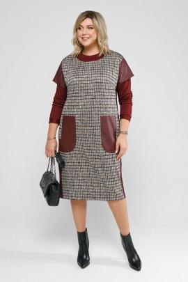 Платье, Джемпер Pretty 2058 бордо