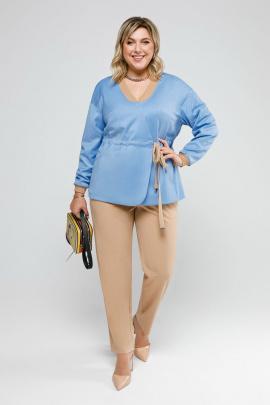 Женский костюм Pretty 2033 кэмел-голубой