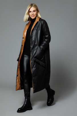 Пальто DiLiaFashion 0517 черный