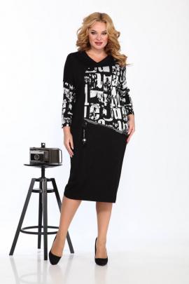 Платье Karina deLux М-9923 черно-белый_принт