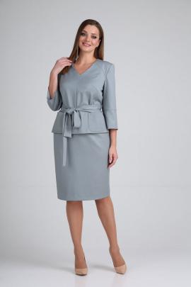 Женский костюм GALEREJA 652 серо-голубой