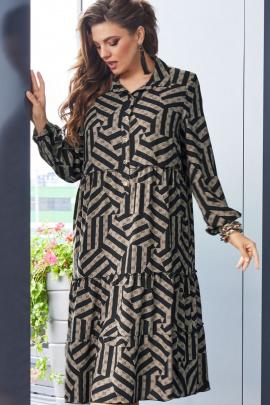 Платье Vittoria Queen 14223 черный+темный_беж