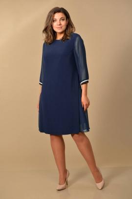 Платье Lady Style Classic 1722/1 синие_тона