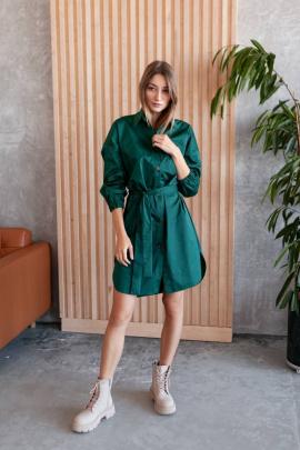 Платье KRASA 272-21 изумрудный