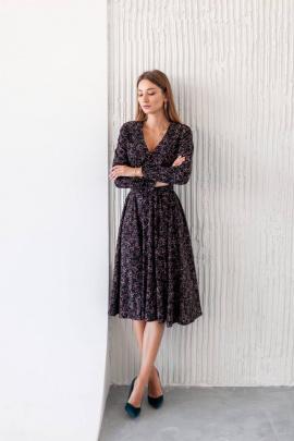 Платье KRASA 276-21 черный_в_цветы