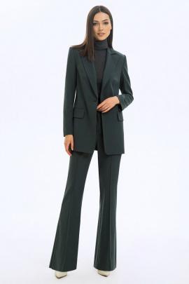 Женский костюм LaVeLa L40046 серо-зеленый