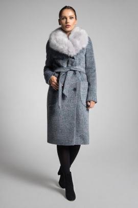 Пальто Gotti 153-17м сине-голубой