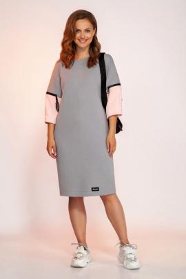 Платье Dilana VIP 1757 серый