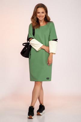 Платье Dilana VIP 1757/1 олива
