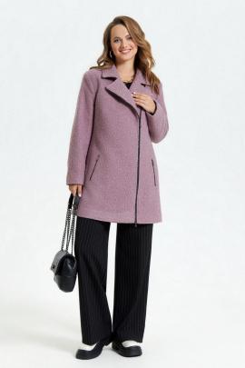 Пальто TEZA 2677 пыльно-розовый