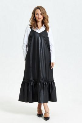 Сарафан, Рубашка TEZA 2679 черный-белый