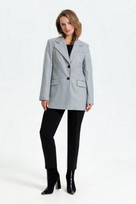 Женский костюм TEZA 2950 черно-белый