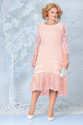 Платье Ninele 5855 пудра