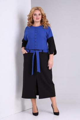 Платье SOVITA M-2131 василек-черный