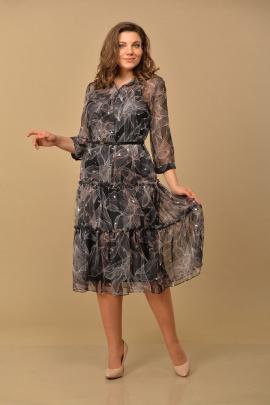 Туника, Платье Lady Style Classic 2085/1 черный-бежевый