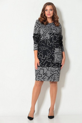 Платье Koketka i K 876 черный-серый