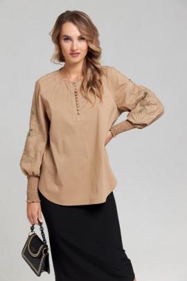 Блуза SandyNa 130413 бежевый