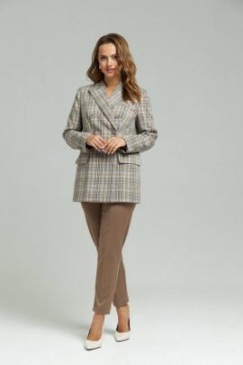 Женский костюм SandyNa 130503 бежево-голубой