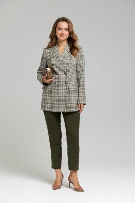Женский костюм SandyNa 130503 бежево-оливковый