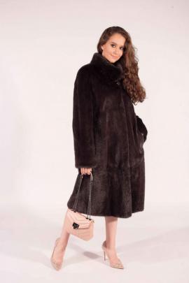 Пальто Мехофф Ромашка110.223-620 коричневый