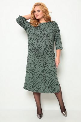 Платье Michel chic 2069 зеленый-принт