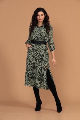 Платье Твой имидж 1425 зеленый+черный