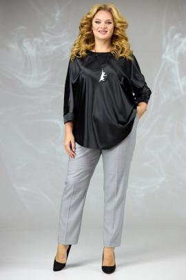 Брюки, Блуза Angelina & Сompany 590 черный-серый