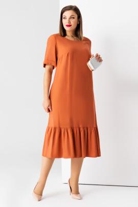 Платье Панда 45280z терракотовый