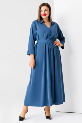 Платье Панда 78480z темно-голубой