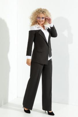 Женский костюм Euromoda 365 темно-серый