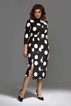 Платье Mubliz 593 черный-белый