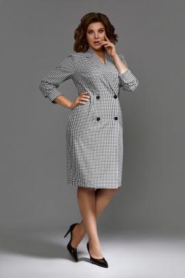 Платье Mubliz 602 черно-белый_клетка
