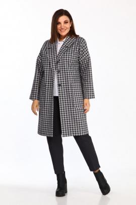 Пальто Lady Style Classic 2464 серый-черный